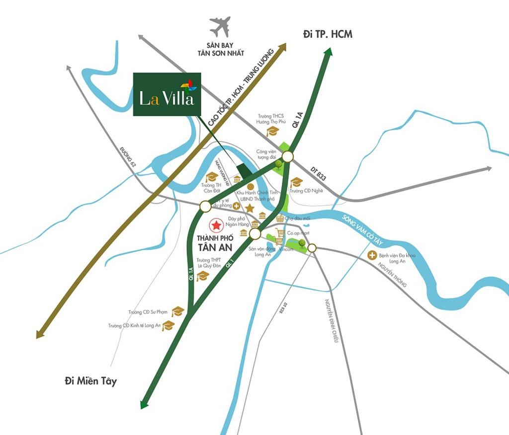 Vị trí chiến lược của Lavilla City Tân An